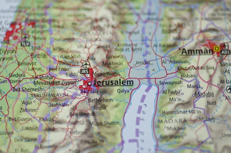 карта Иерусалима стоковые фото