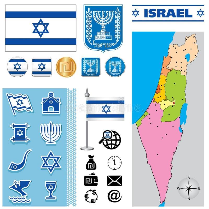 Карта Израиля иллюстрация штока