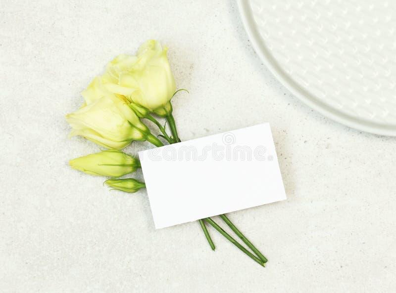 Карта имени свадьбы модель-макета стоковая фотография rf