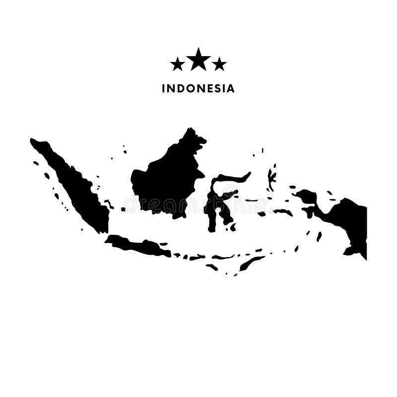 Карта Индонезии также вектор иллюстрации притяжки corel иллюстрация штока