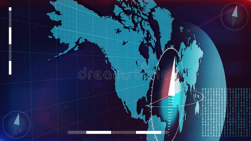 Карта интернета мира при биты покрывая ее иллюстрация вектора