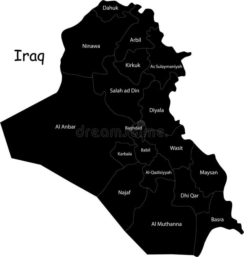 Карта Ирака вектора иллюстрация штока