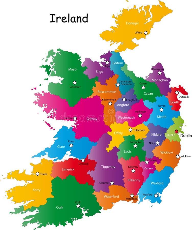 Карта Ирландии иллюстрация штока