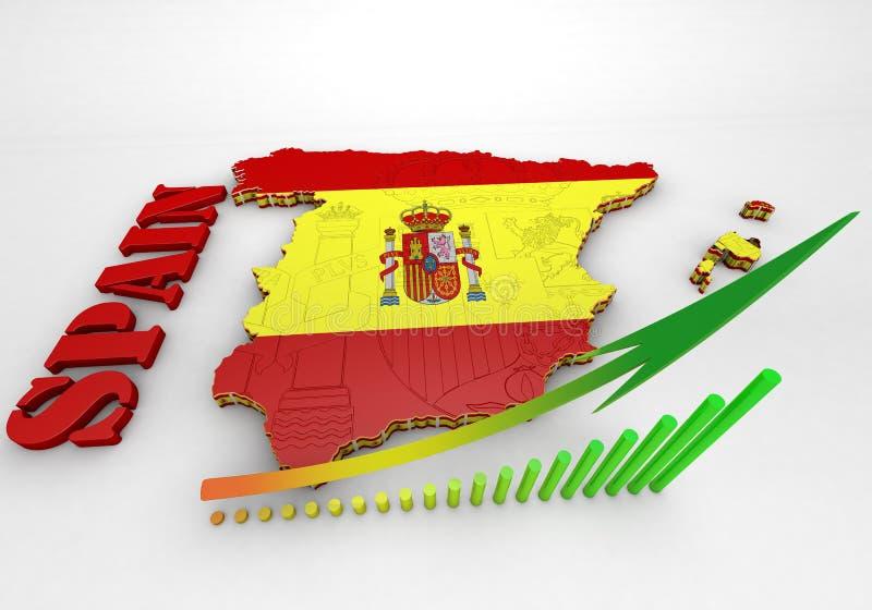 карта Испания флага стоковое фото rf