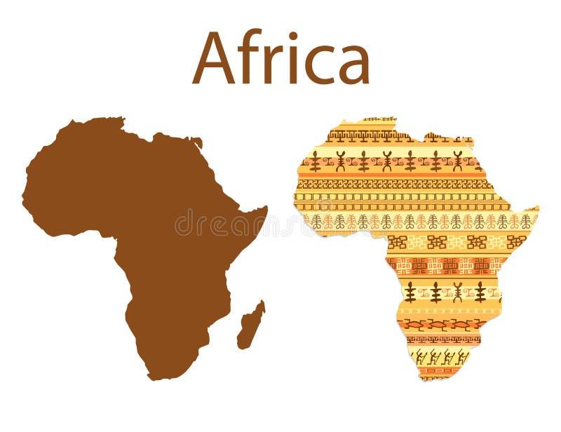 Карта иллюстрации вектора Африки иллюстрация вектора