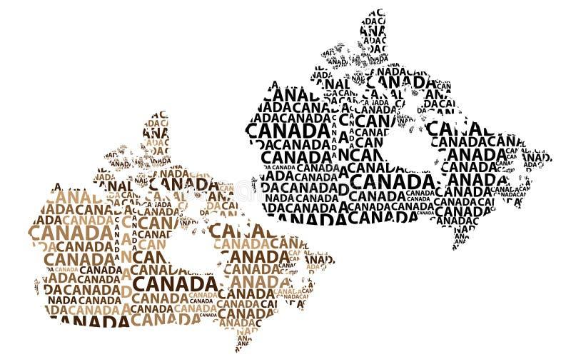 Карта Канады - иллюстрации вектора иллюстрация вектора