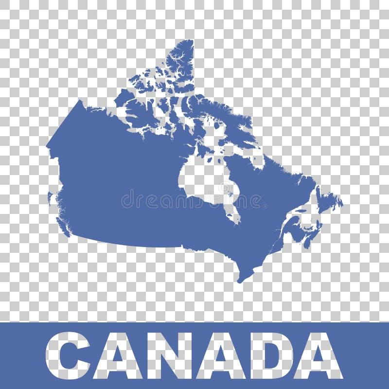 карта Канады континентальная политическая Плоский вектор иллюстрация штока