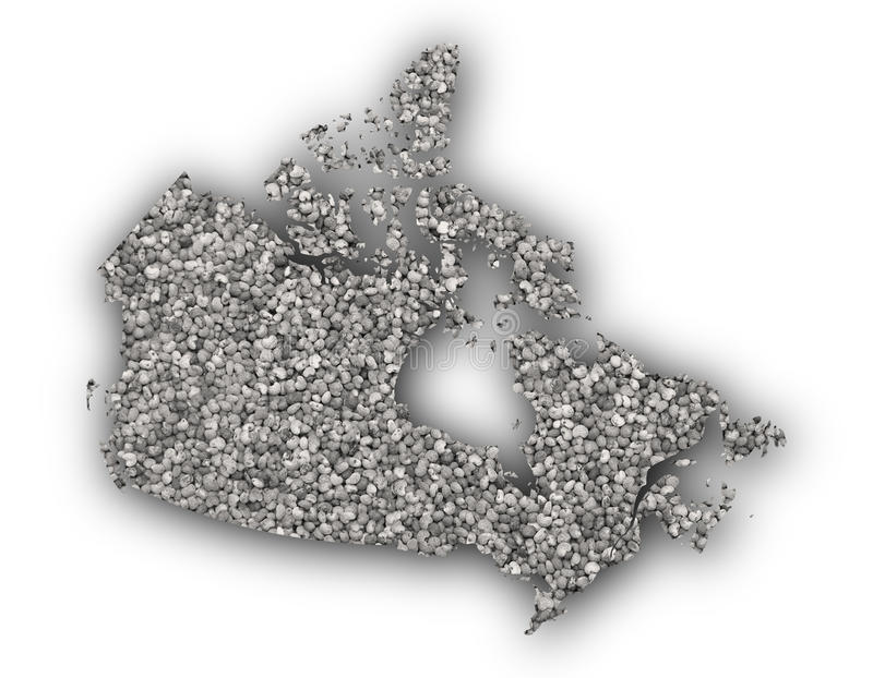 Карта Канады на маковых семененах стоковые фото