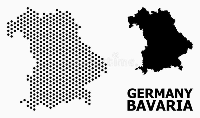Карта картины пиксела государства Баварии бесплатная иллюстрация