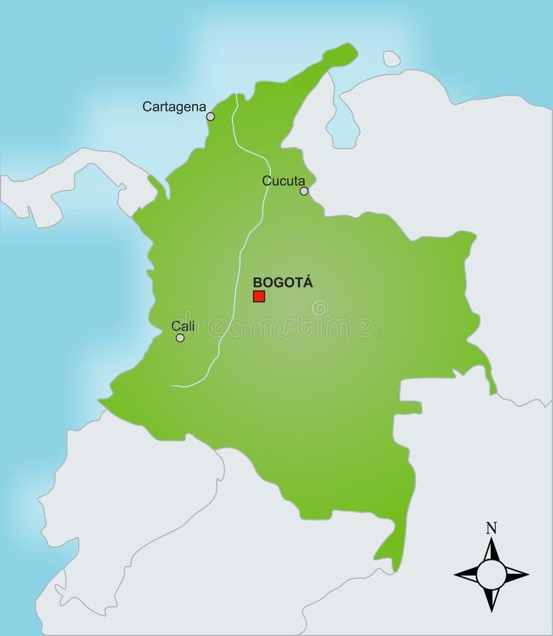 карта Колумбии бесплатная иллюстрация