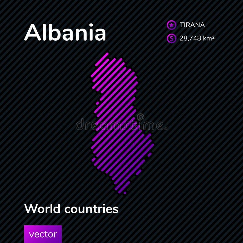 Карта конспекта вектора Албании иллюстрация штока