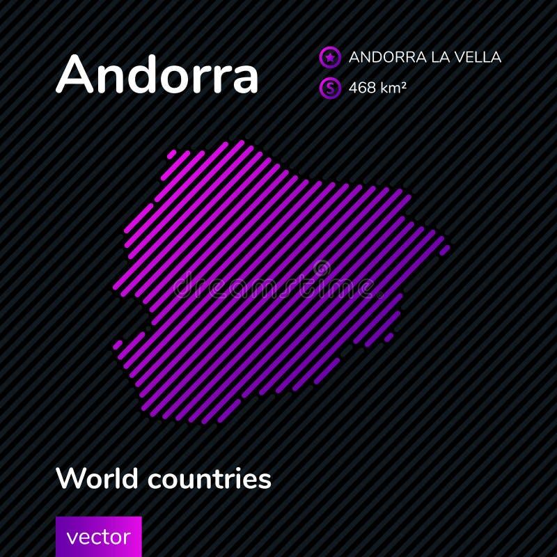Карта конспекта вектора Андорры иллюстрация штока