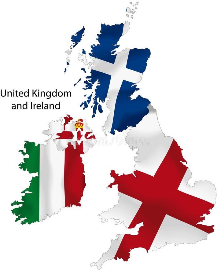 Карта Королевства Соединенного иллюстрация штока