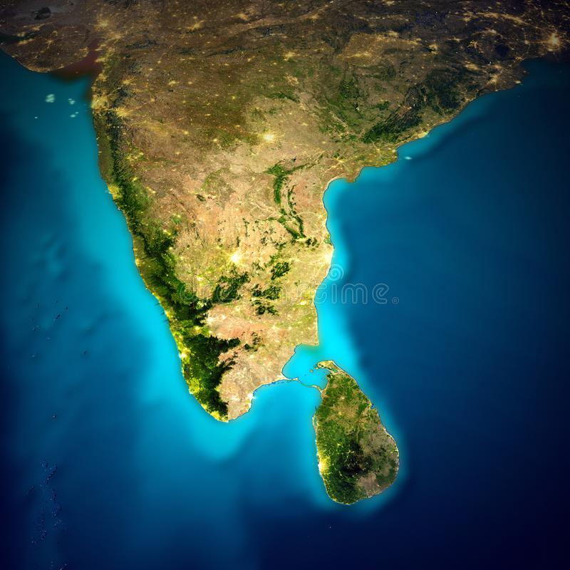 Карта космоса Индии иллюстрация штока