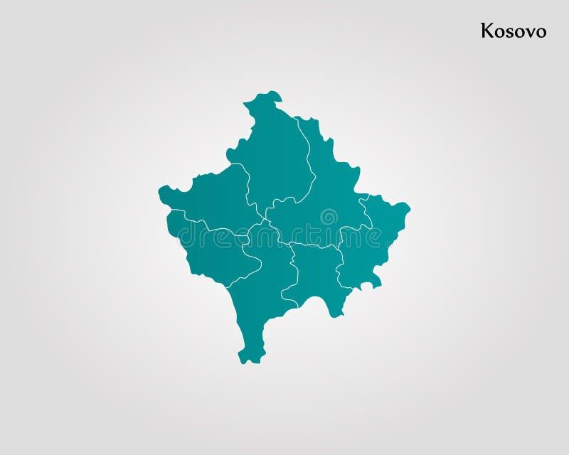 Карта Косова иллюстрация штока
