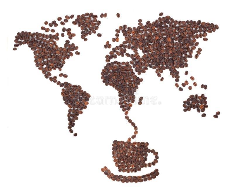 карта кофе стоковая фотография rf