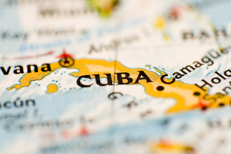карта Кубы стоковое изображение rf