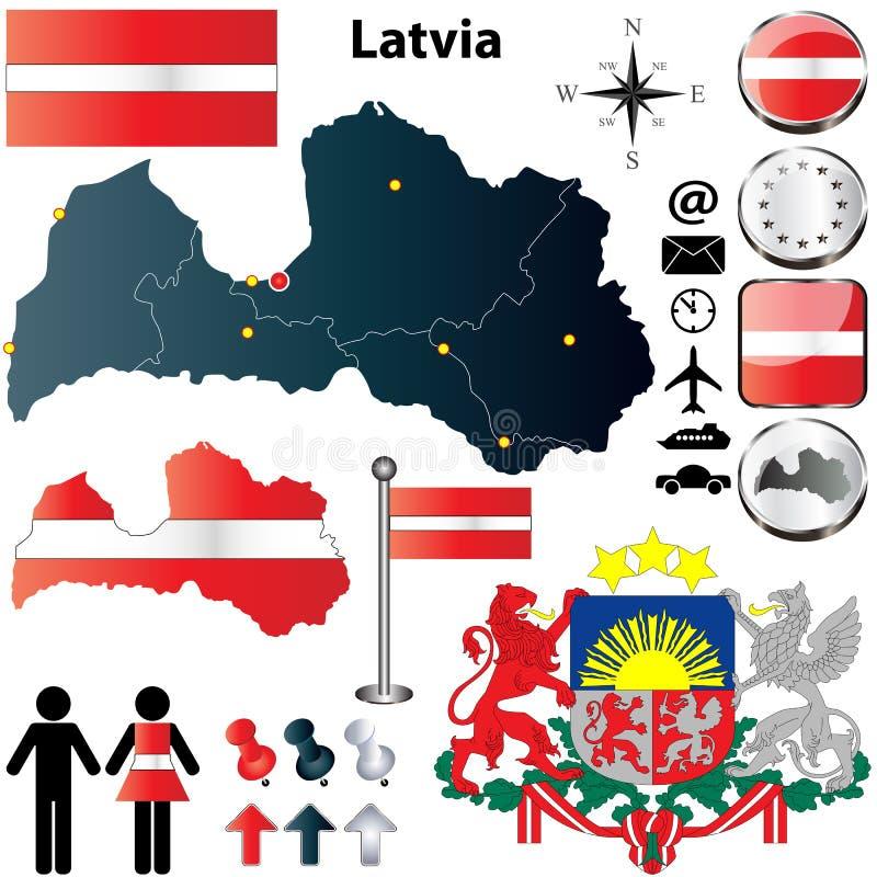 Карта Латвия иллюстрация штока