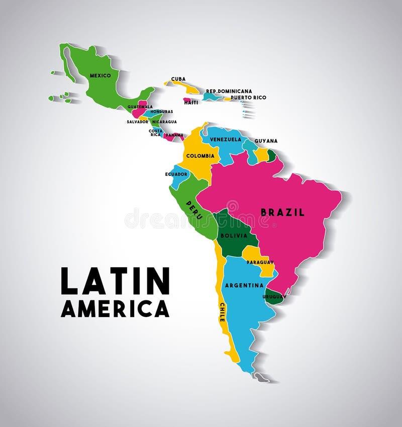 Карта Латинской Америки иллюстрация штока