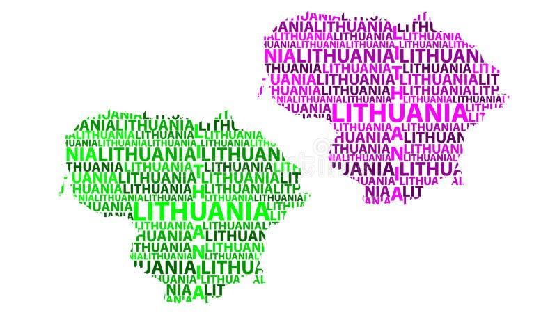 Карта Литвы - иллюстрации вектора иллюстрация штока