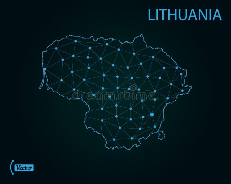 карта Литвы также вектор иллюстрации притяжки corel Старый Мир карты иллюстрации иллюстрация вектора