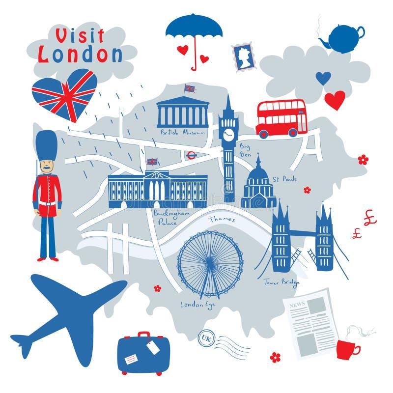 Карта Лондон