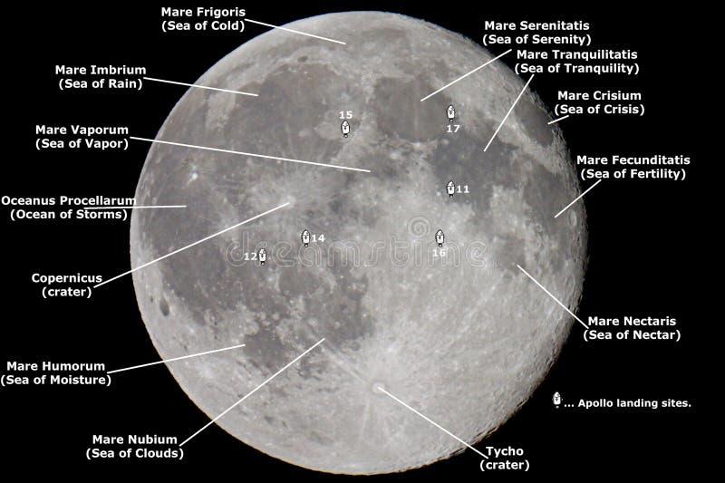 Карта луны стоковые изображения rf