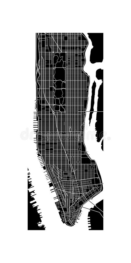 Карта Манхаттана иллюстрация штока