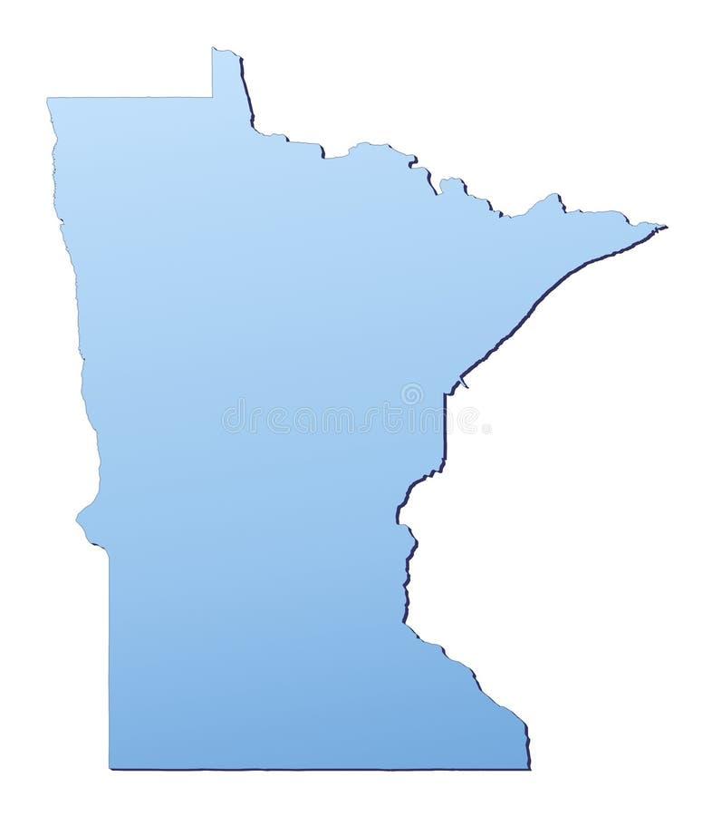 карта Минесота США иллюстрация вектора