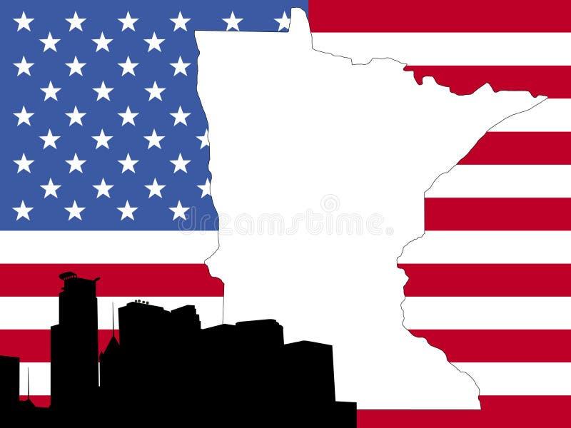 карта Минесота бесплатная иллюстрация