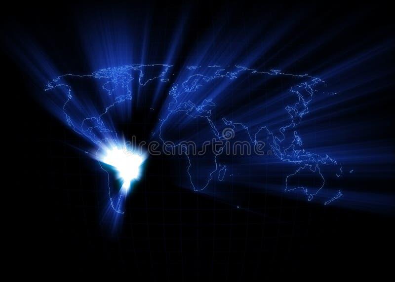 Карта мира - Бразилия бесплатная иллюстрация