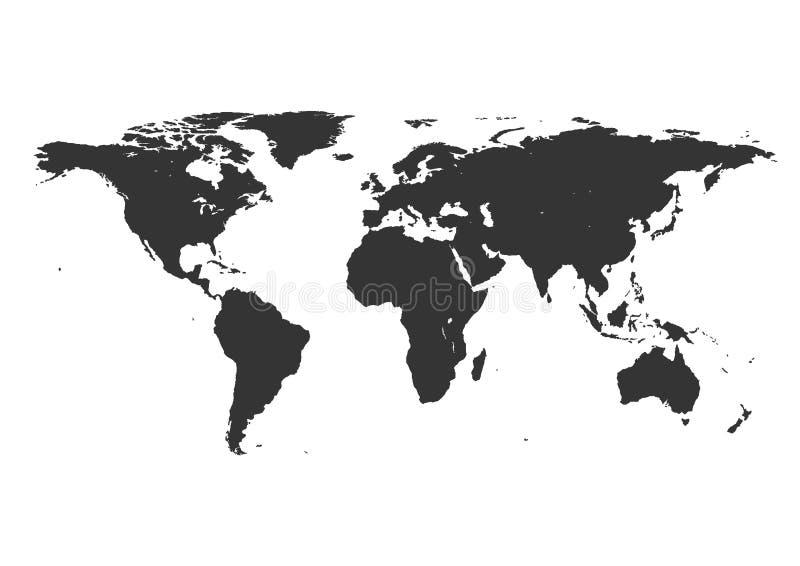 Карта мира вектора Очень высокая иллюстрация детали иллюстрация штока