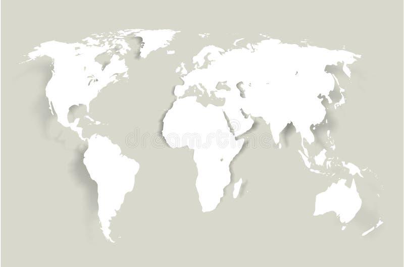 Карта мира вектора иллюстрация вектора