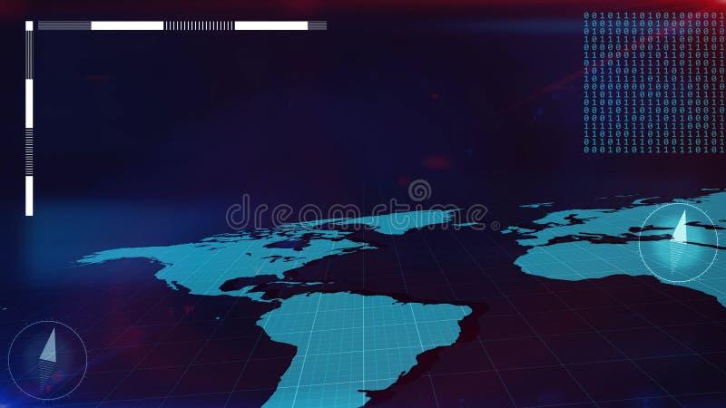 Карта мира в взгляде перспективы бесплатная иллюстрация