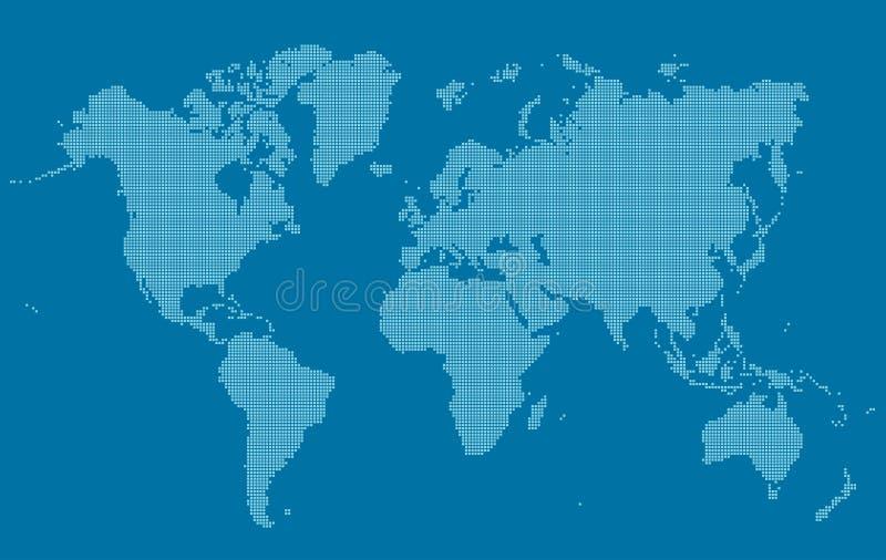 Карта мира в небольших площадях иллюстрация штока