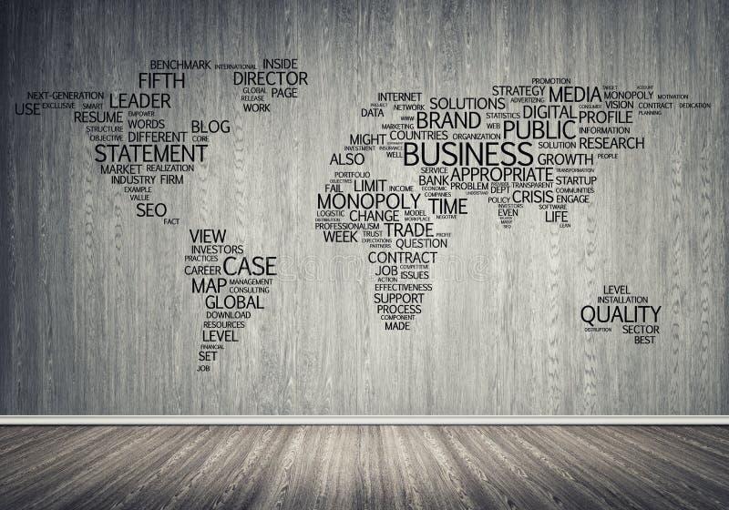 Карта мира в оформлении бесплатная иллюстрация