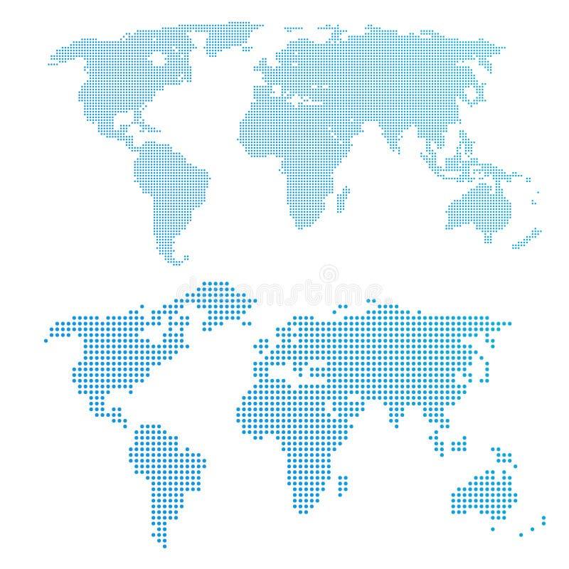 Карта мира в точках иллюстрация штока