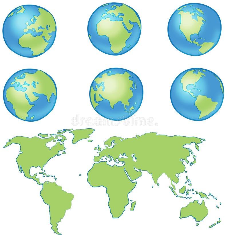Карта мира глобуса стоковые фото