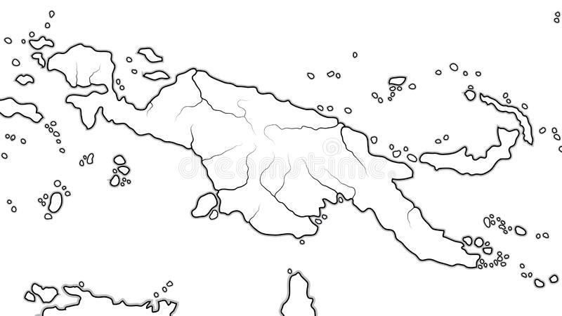 Карта мира ПАПУАОЙ-НОВ ГВИНЕИ: Австралазия, Микронезия, Меланезия, полинезия Географическая диаграмма бесплатная иллюстрация