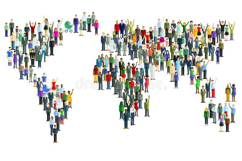 Карта мира сделанная людей бесплатная иллюстрация