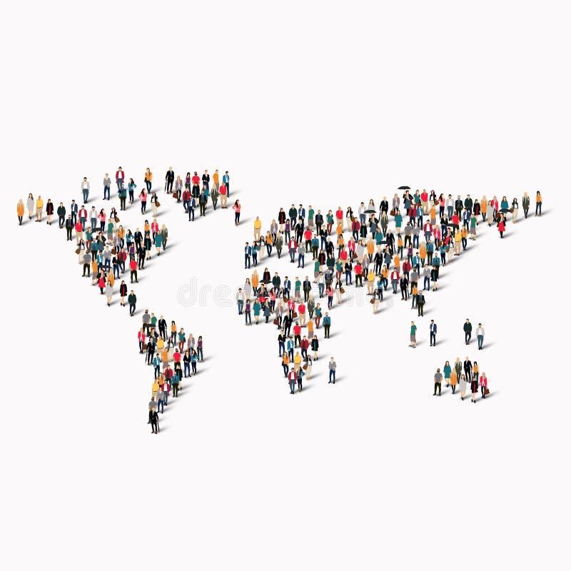 Карта мира формы людей группы бесплатная иллюстрация