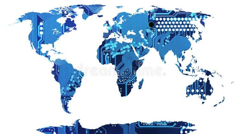 Карта мира. бесплатная иллюстрация