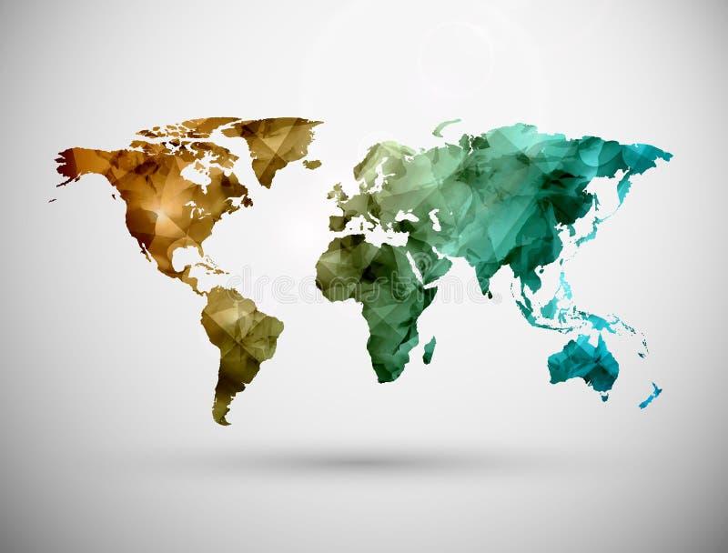 Карта мира иллюстрация вектора