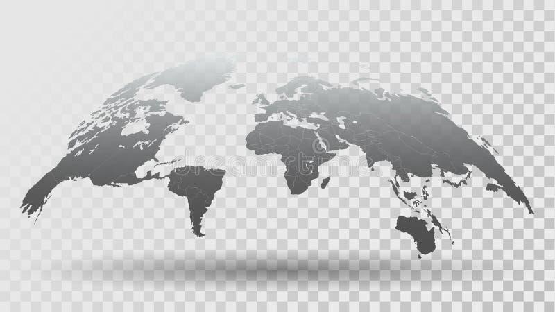 карта мира 3D на прозрачной предпосылке бесплатная иллюстрация