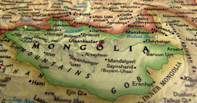 карта Монголия стоковая фотография rf