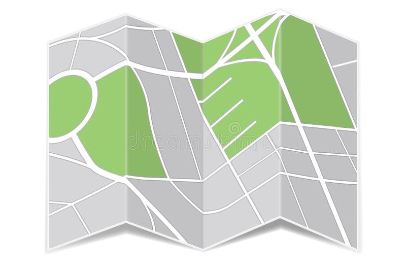 Карта навигации Сложенная бумага бесплатная иллюстрация