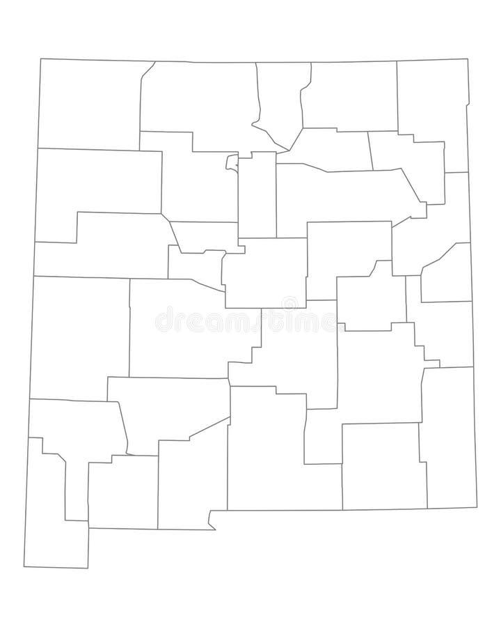 Карта Неш-Мексико иллюстрация вектора