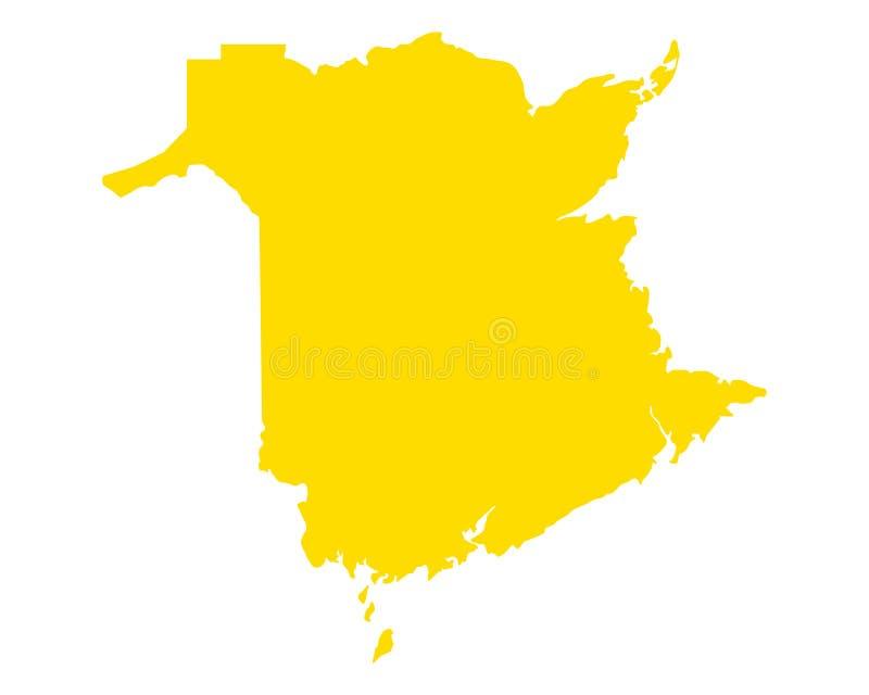 Карта Ньюа-Брансуик бесплатная иллюстрация