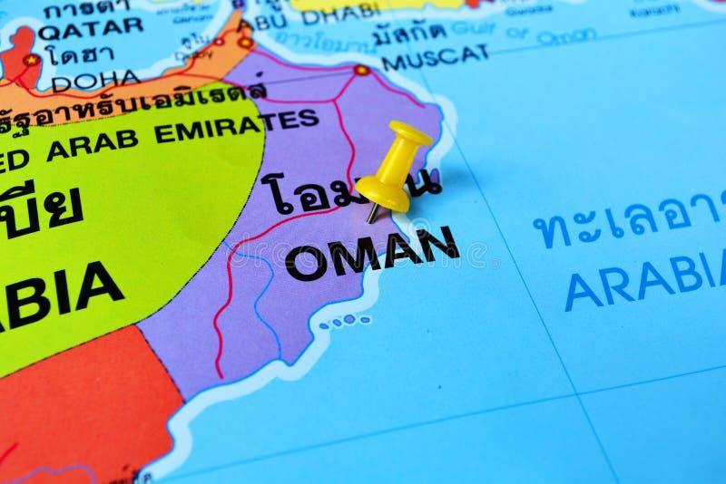 Карта Омана стоковое фото rf