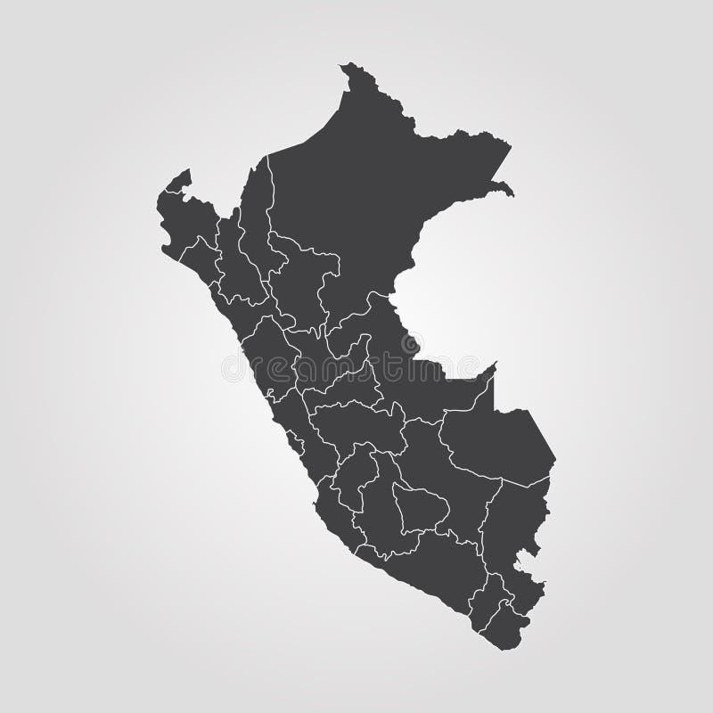 карта Перу иллюстрация штока